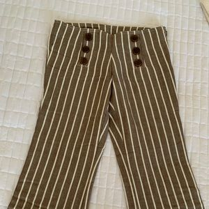 Tory Burch Striped Wide Leg Pants